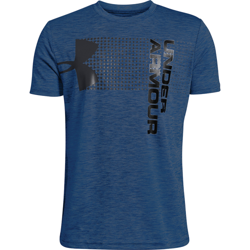 Youth Under Armour Crossfade Tee, Blue, swatch