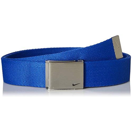 Men's Swoosh Web Golf Belt, Royal Bl,Sapphire,Marine, swatch