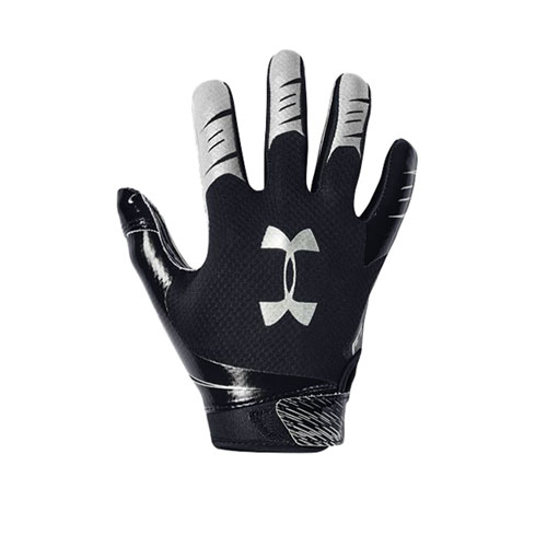 Youth F7 Football Receiver Gloves, Black, swatch