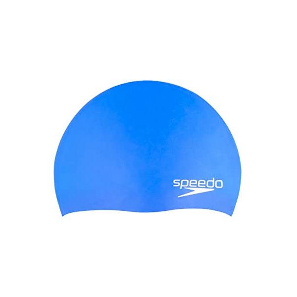 JR Elastomeric Silicone Swim Cap, Blue, swatch