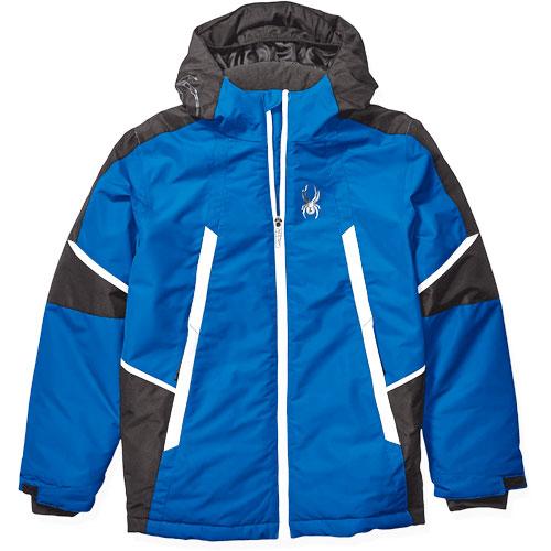 Boys' Kyle City/Slope Ski Jacket, Blue, swatch