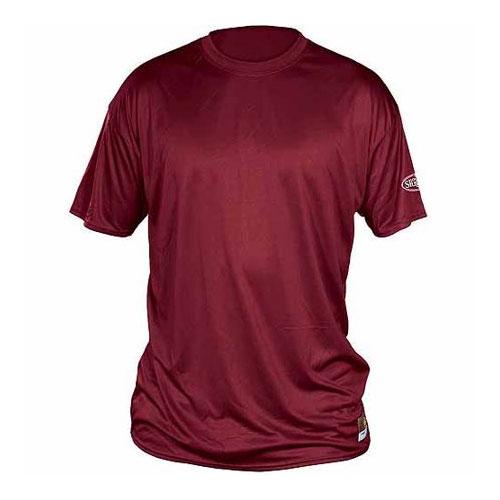 Solid Short Sleeve Shirt, Maroon, swatch