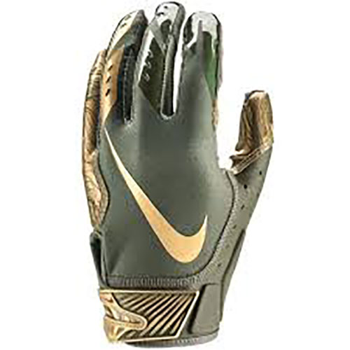 Adult Vapor Jet 5.0 Football Glove, Green/Gold, swatch