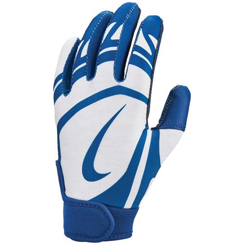 Youth T-Ball Alpha Huarache Edge Batting Gloves, Royal Blue/White, swatch