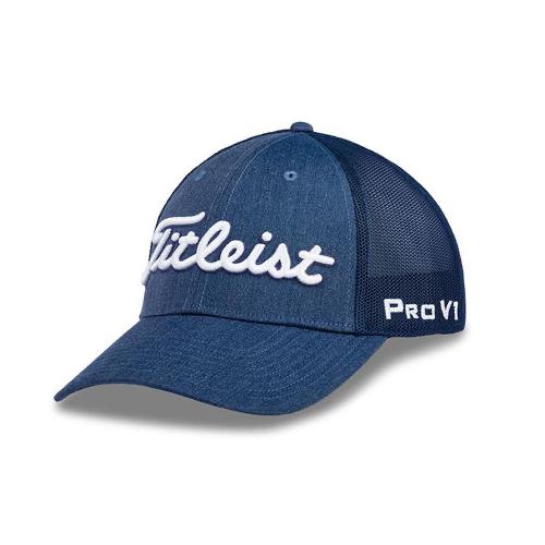 Tour Deep Back Mesh Golf Hat, Navy, swatch