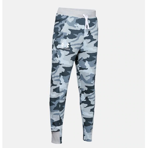 Boy's Rival Printed Camo Jogger, Heather Gray, swatch