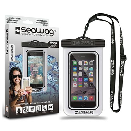 Waterproof Smartphone Case, White/Black, swatch