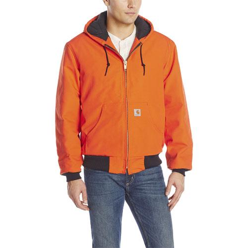 Men's Quilt Lined Active Jacket, Orange, swatch