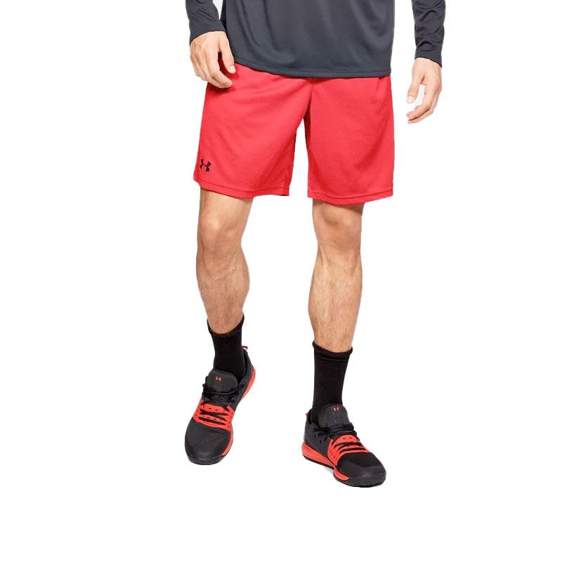 Men's Tech Mesh Shorts, Red, swatch