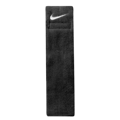 Swoosh Football Towel, Black, swatch