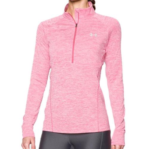 Women's Twist 1/2 Zip, Pink, swatch