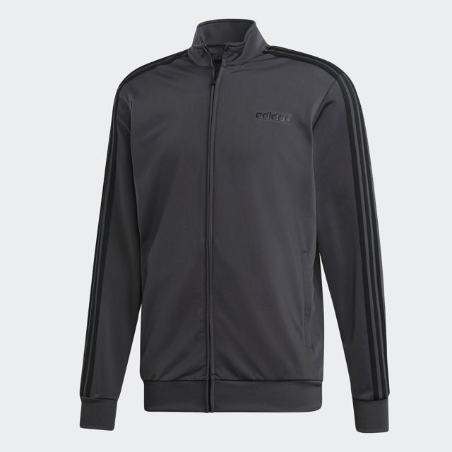 Men's Essential 3 Strip Tricot Jacket, Heather Gray, swatch