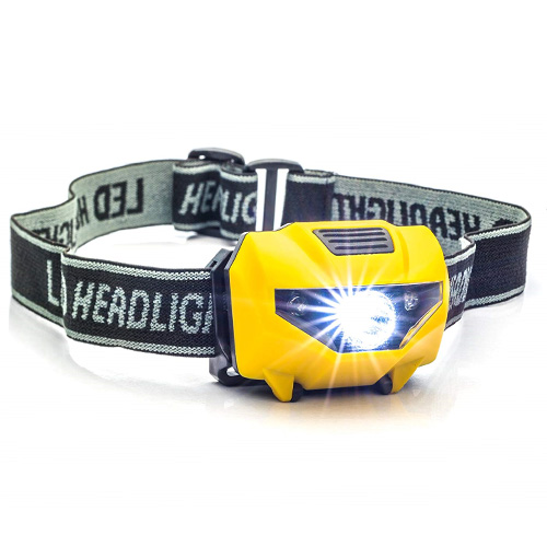 150 Lumens Spotlight Head Lamp with 4-Stage Switch, Gold, Yellow, swatch