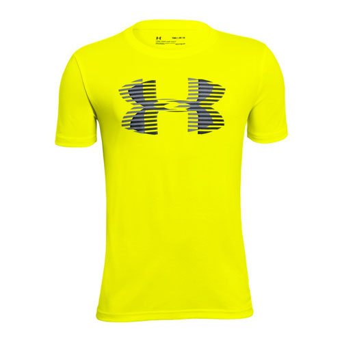 Boy's Big Logo Solid T-Shirt, Neon Yellow, swatch