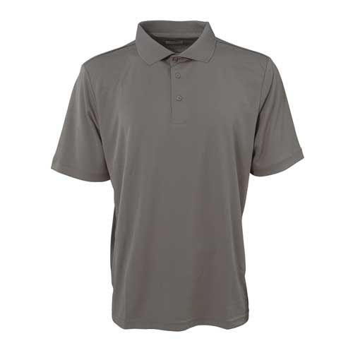 Men's Short Sleeve Golf Polo, Gray, swatch
