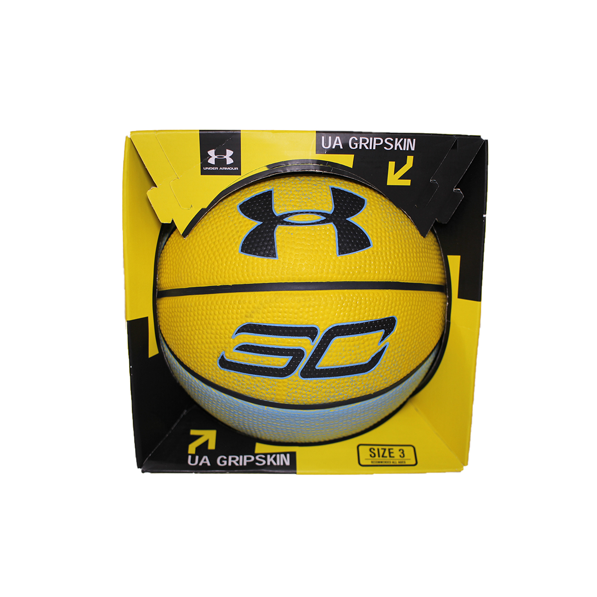 Stephen Curry Mini Basketball, Yellow/Blue, swatch