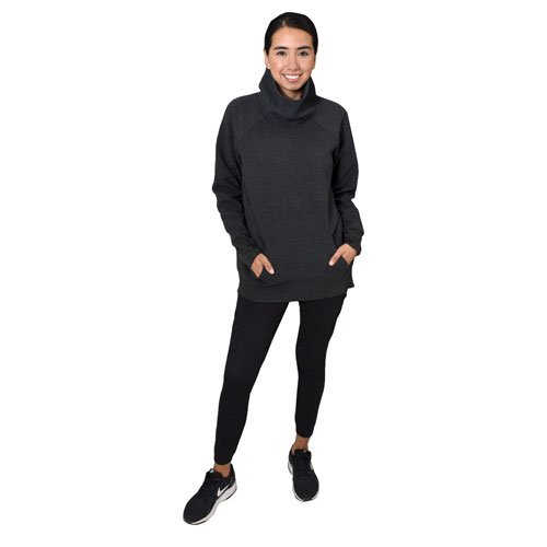 Women's Brushed Legging With Zippered Trim, Black, swatch