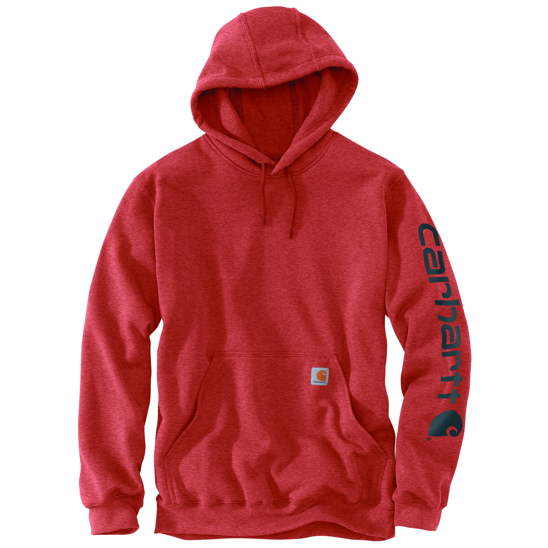 Men's Hooded Sweatshirt, Orange, swatch