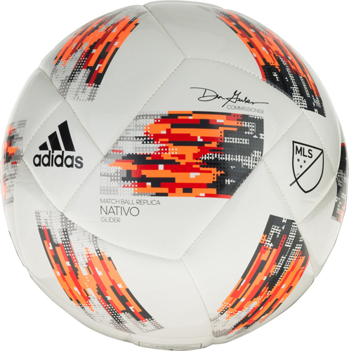 MLS Glider Soccer Ball, White/Orange, swatch