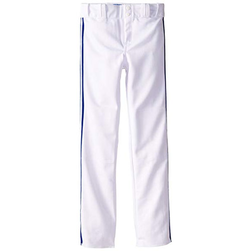 Adult Slug Trip Crown Open Hem Pant, White/Navy, swatch