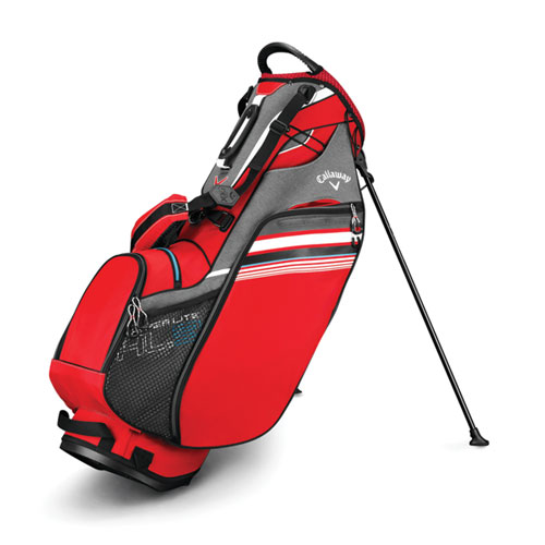 Hyper-Lite 3 Golf Stand Bag, Red/White, swatch
