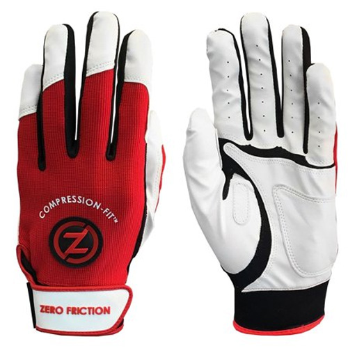 Men's Performance Batting Gloves, Red, swatch