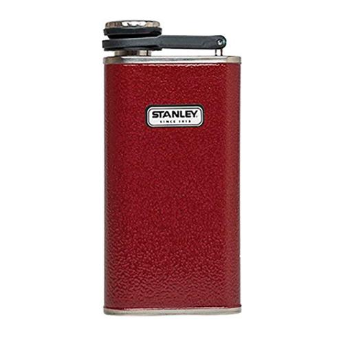 8 Oz Flask, Crimson, swatch