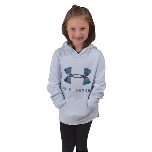 Girl's Rival Print Fill Logo Hoodie, Lt Blue,Powder,Sky Blue, swatch