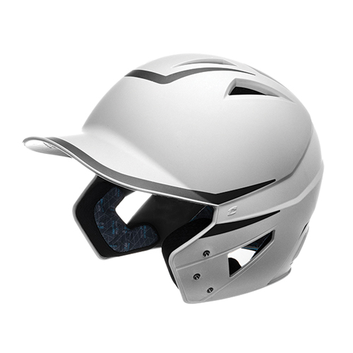 Senior HX 2-Tone Matte Batting Helmets, White/Black, swatch