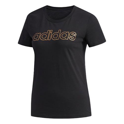 Women's Essentials Branded Short Sleeve T-Shirt, Black, swatch