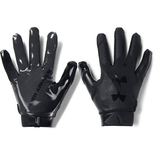 Spotlight Football Gloves, Black/Black, swatch