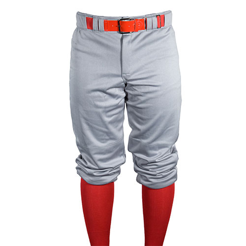 Men's Game Knicker Baseball Pants, Gray, swatch