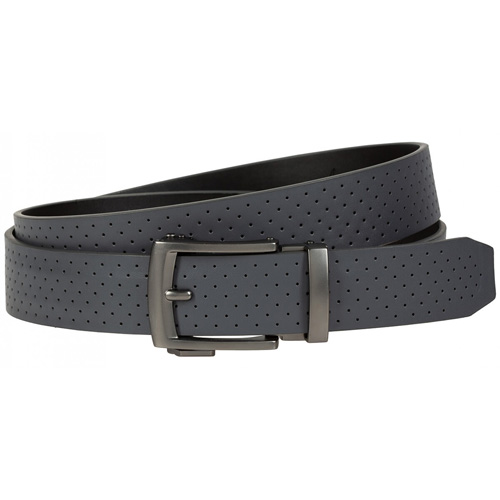 Men's Perforated Acu-Fit Golf Belt, Gray, swatch