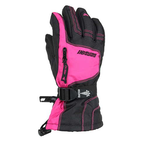 Girl's Ultra Dri-Max Junior Gloves, Pink/Gray, swatch