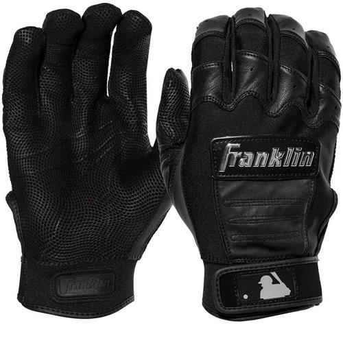 Men's MLB CFX Chrome Batting Gloves, Black, swatch