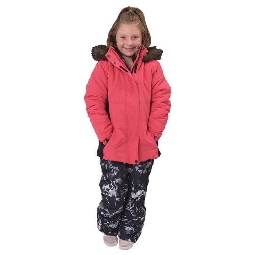 Girl's Classic Ski Pants, Floral, swatch