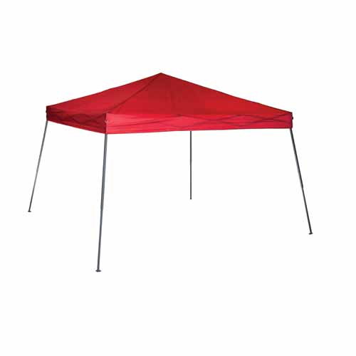 10X10 Slant Leg Canopy, Red, swatch
