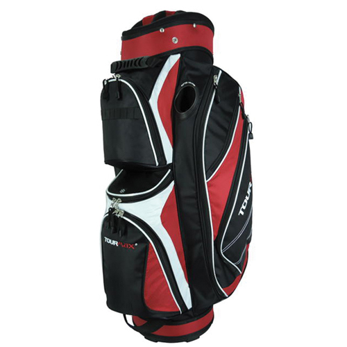TC 2000 Deluxe Cart Bag, Black/Red, swatch
