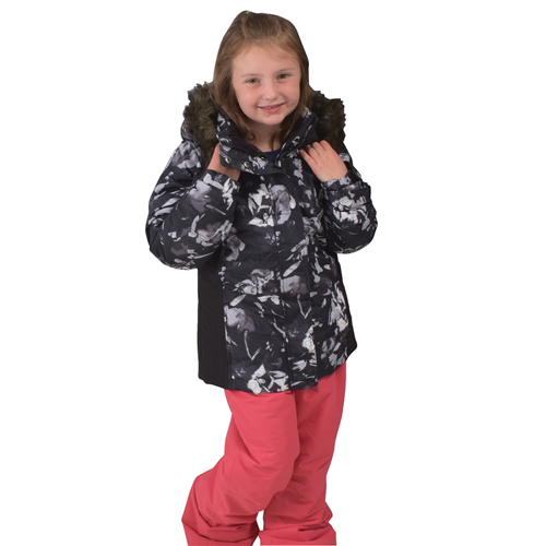 Girl's Classic Ski Pants, Coral, swatch