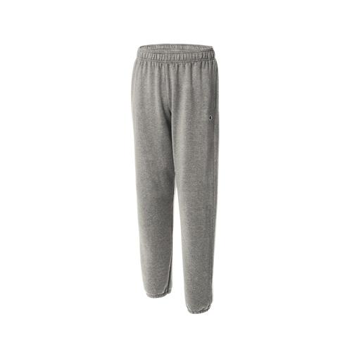 Men's Powerblend Relaxed Bottom Fleece Pants, Heather Gray, swatch