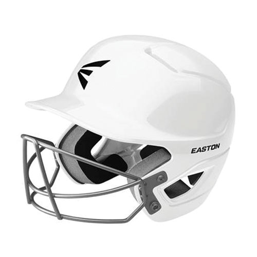 Tee Ball Alpha Fast Pitch Helmet with Mask, White, swatch