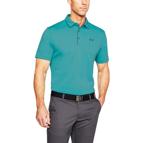 Men's Tech Polo Shirt, Green Blue, Teal, swatch