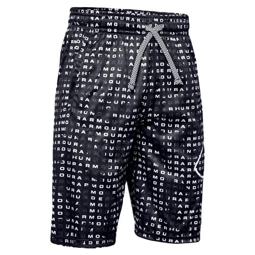 Boys' Renegade 2.0 Printed Shorts, Black, swatch