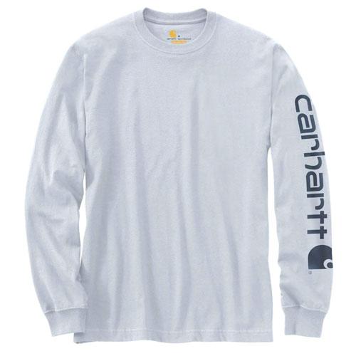 Men's Workwear Long-sleeve Graphic Logo T-Shirt, Lt Blue,Powder,Sky Blue, swatch