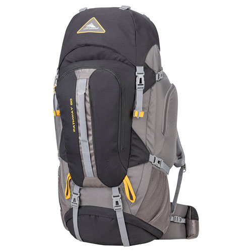 Pathway 90L Hiking Pack, Black/Gray, swatch
