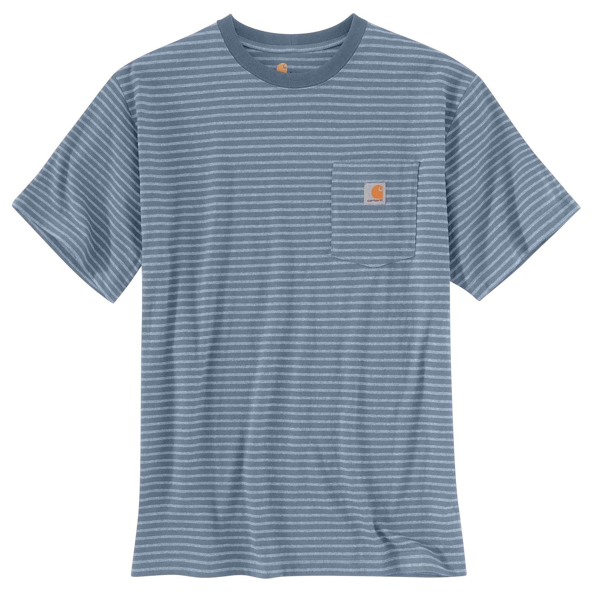 Men's Workwear Pocket Tee, Blue/Gray, swatch