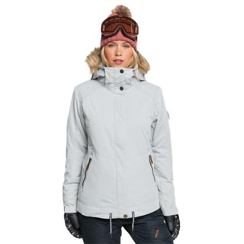 Women's Meade Snow Jacket, Heather Gray, swatch
