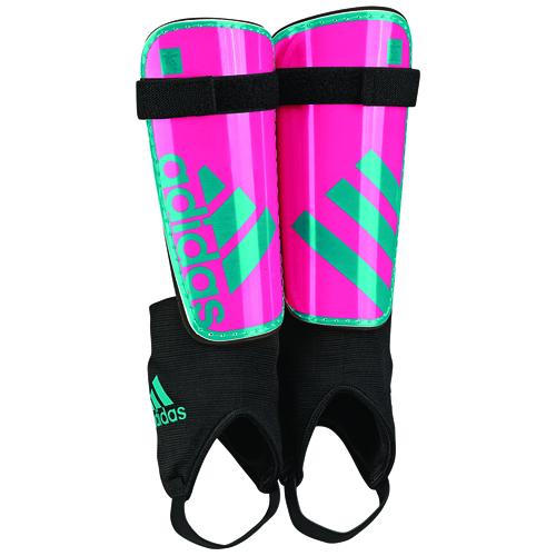 Youth Ghost Soccer Shin Guards, Pink/Green, swatch