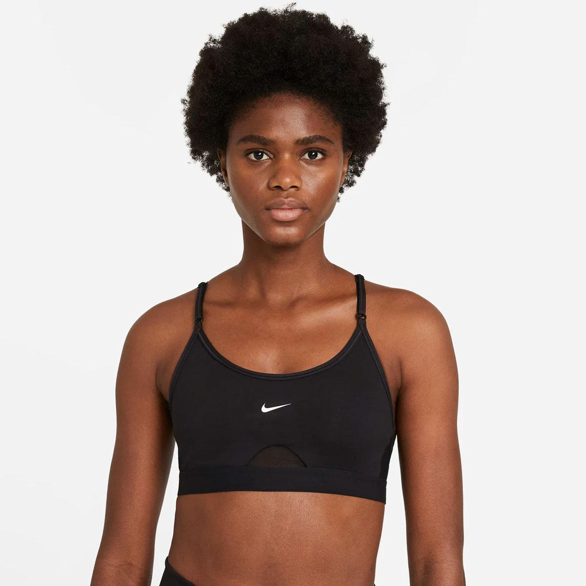 Women's Indy U-Neck Bra, Black, swatch