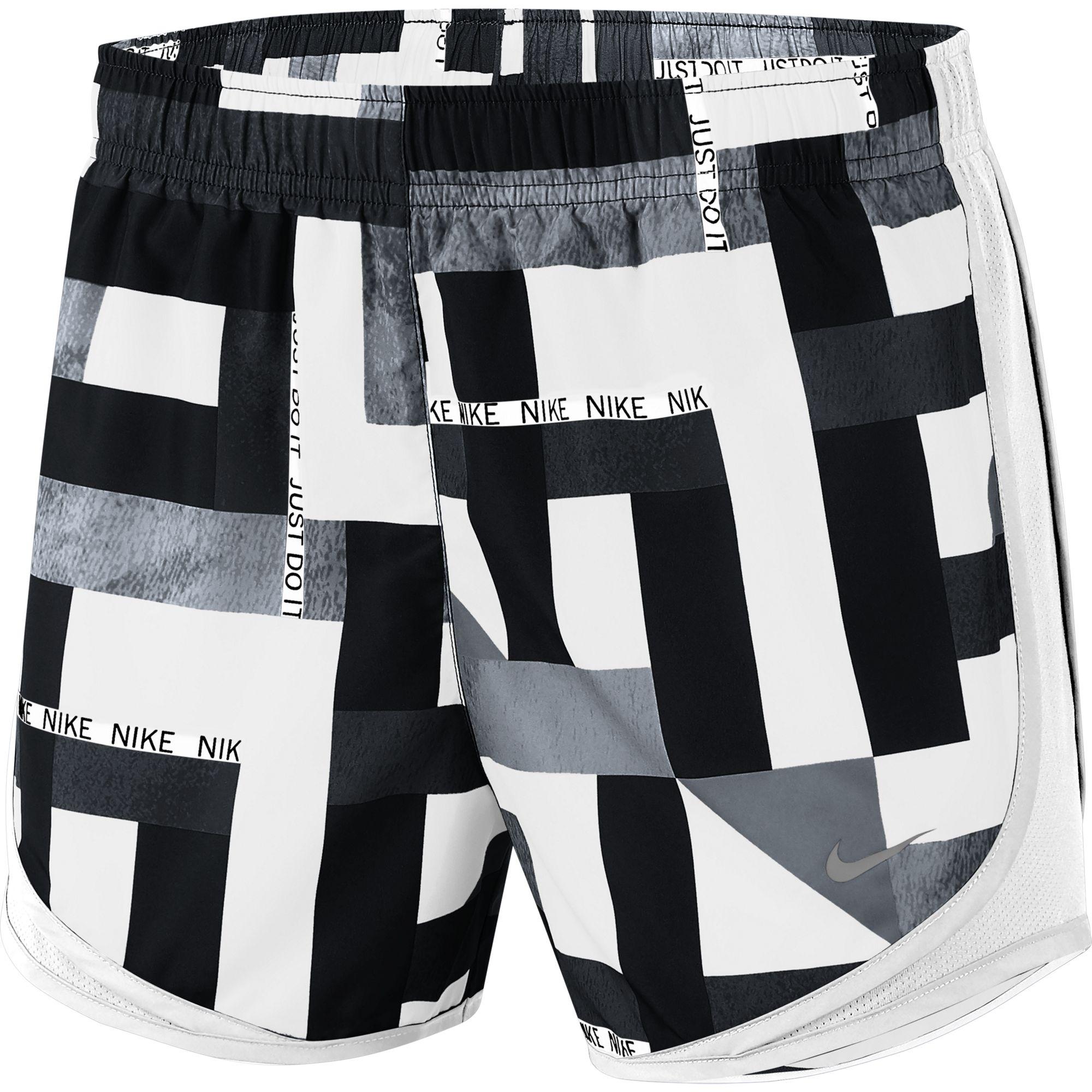 Women's Geometric Print Tempo Shorts, Black, swatch
